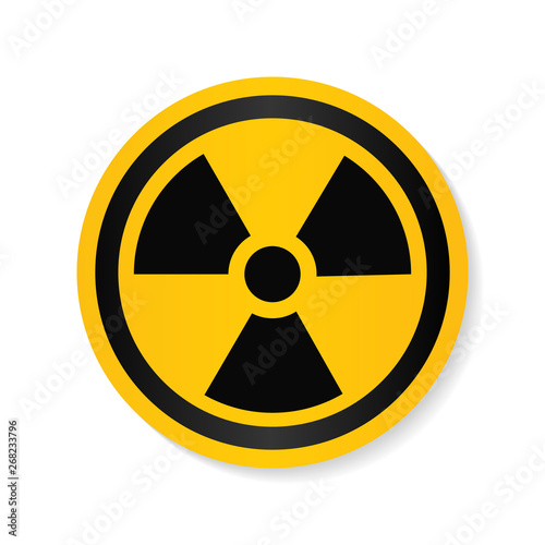 Ionizing radiation logo warning attention icon Canvas Print