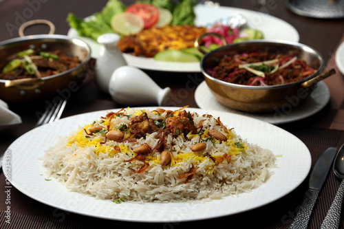 Rice Plate in Afghan Style with Cashew Nuts Wallpaper Mural