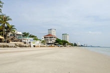 Hua Hin Town On The Gulf Of Thailand With The Beach Front