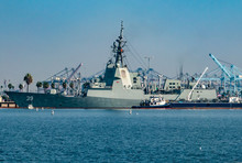 The HMAS Hobart (DDG 39),  At The Port Of Los Angeles, Is The Lead Ship Of The Hobart-class Air Warfare Destroyers Used By The Royal Australian Navy (RAN).