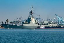The HMAS Hobart (DDG 39),  At ...