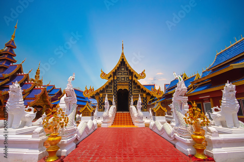 Fotomural Wat Pipatmongkol is a Buddhist temple It is a major tourist attraction Sukhothai, northern Thailand