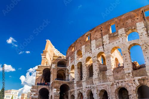 Fotografie, Obraz  Exterior view of the ancient Roman Colloseum in Rome
