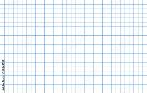Fotomural Blue lines school notebook graph paper template
