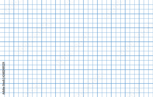 Fototapeta  Blue lines square graph paper template