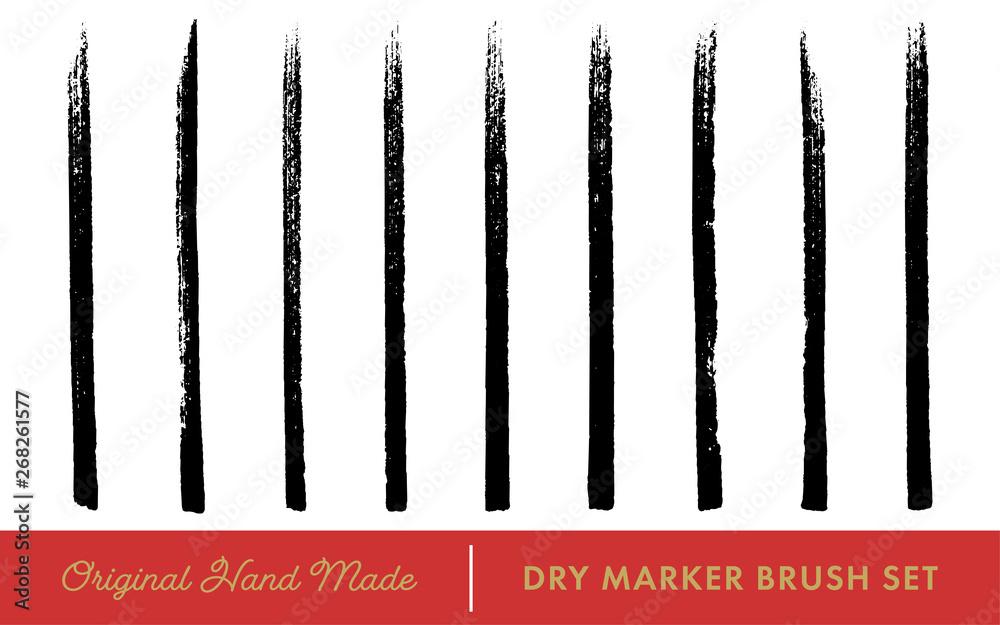 Fototapeta Dry Marker Brush Vector Set