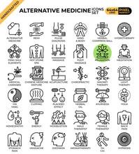 Alternative Medicine Concept Icons