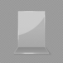 Acrylic Glass Table Card Display