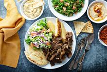 Mediterranean Food On The Tabl...