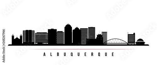 Photo Albuquerque city skyline horizontal banner