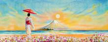 Travel Mount Fuji Of Japan.