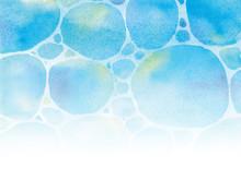 水面 水彩イラスト
