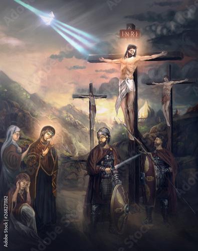 Fotografia, Obraz crucifixion of Jesus Christ
