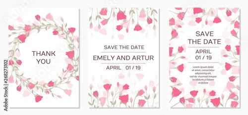 Photographie Romantic tender floral design for wedding invitation
