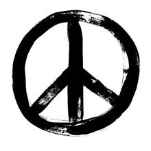 Peace Sign Grunge Doodlie Sket...
