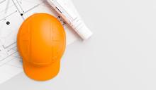 Orange Or Brown Safety Helmet ...