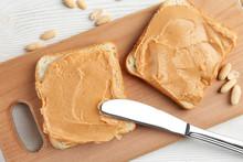 Peanut Butter Sandwich On The ...