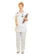 canvas print picture Frau als Krankenschwester oder Arzt mit Klemmbrett