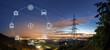 Leinwandbild Motiv Smart grid