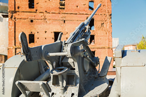 The German 20th milimitrovy antiaircraft gun, in the museum panorama Battle of S Canvas Print