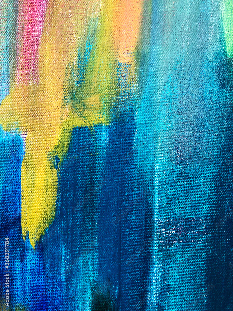 Fototapeta  Oil paint texture. Bright  backdrop for branding, advertising with colorful paint. Modern template. Design for posters, brochures, inviting, covers..Brushstrokes of paint. Modern art.