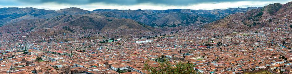 Panorama view of city Cusco
