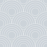 Abstract retro pattern of geometric shapes. Neutral  mosaic backdrop. Geometric wave of circles  background, vector - 268293582