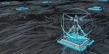 Vitruvian Robot Microchip