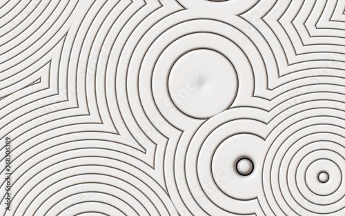 Fototapety, obrazy: white futuristic modern circles