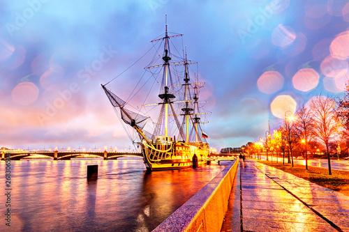 Canvas Prints Ship Russia, St. Petersburg, Frigate
