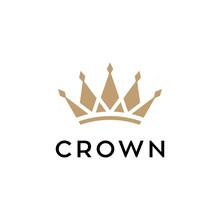 Crown Concept Vector Logo Design