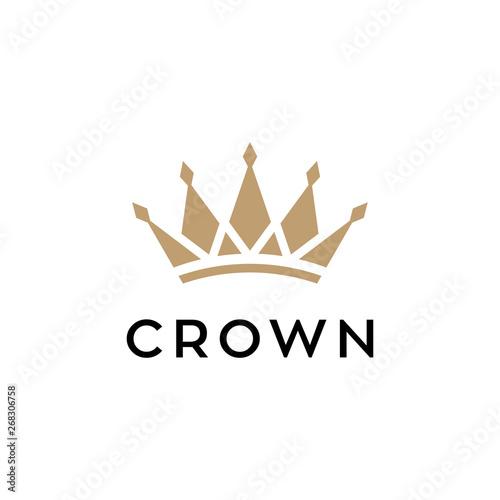 Fotomural crown concept vector logo design