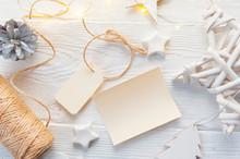 Mockup Christmas Kraft Gift Bo...