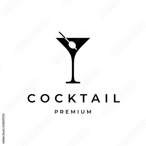 Fotomural  Cocktail Logo Design Template