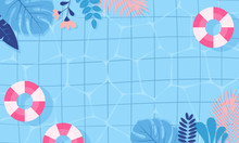 Summer Pool Background Vector ...