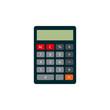 Calculator icon flat style.