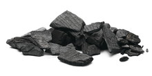 Black Charcoal Chunks, Pile Is...