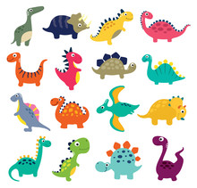 Funny Cartoon Dinosaurs Collec...