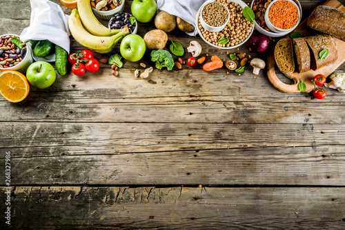 Fotobehang Keuken Good carbohydrate fiber rich food