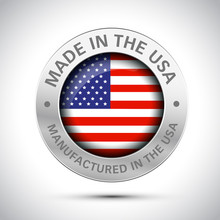 Made In America Flag Metal Icon