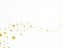 Gold Star Background Beautifully Arranged Design