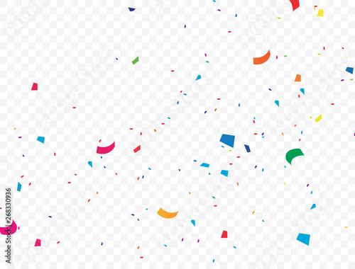 Obraz Bright colored confetti background that beautifully falls - fototapety do salonu