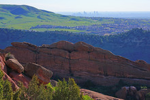 View Of Red Rocks In The Rocky Mountains Near Denver, Colorado