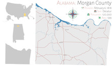 Large And Detailed Map Of Morgan County In Alabama, USA