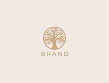 Abstract Round Tree Logo Icon....