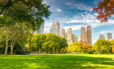 Fototapeta Nowy York - Beautiful foliage colors of New York Central Park