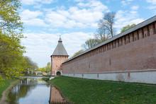 Large Rectangular Tower Kopytenskaya And Smolensk Fortress Wall