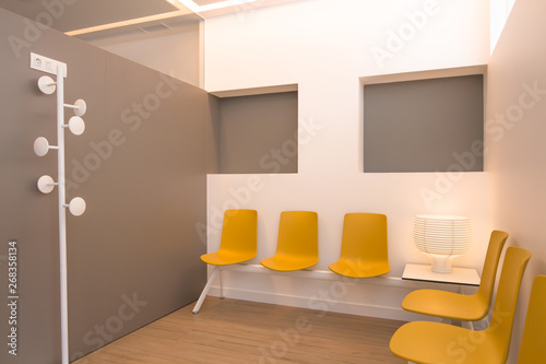 Sensational Modern Doctors Waiting Room With Yellow Chairs And Copy Pdpeps Interior Chair Design Pdpepsorg