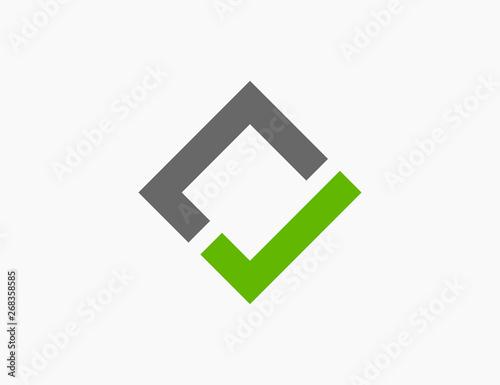 Fotografía  Checkmark Logo Template Icon Vector Illustration