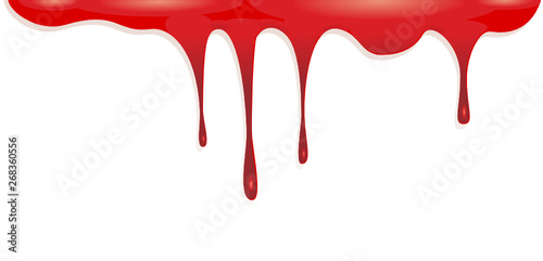 Fotomural  Blood dripping